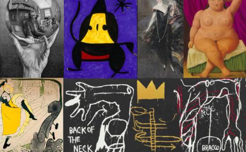 Collage di alcune delle mostre di Arthemisia nella Notte dei Musei