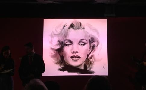 """Schermo della mostra """"Imperdibile Marilyn"""""""