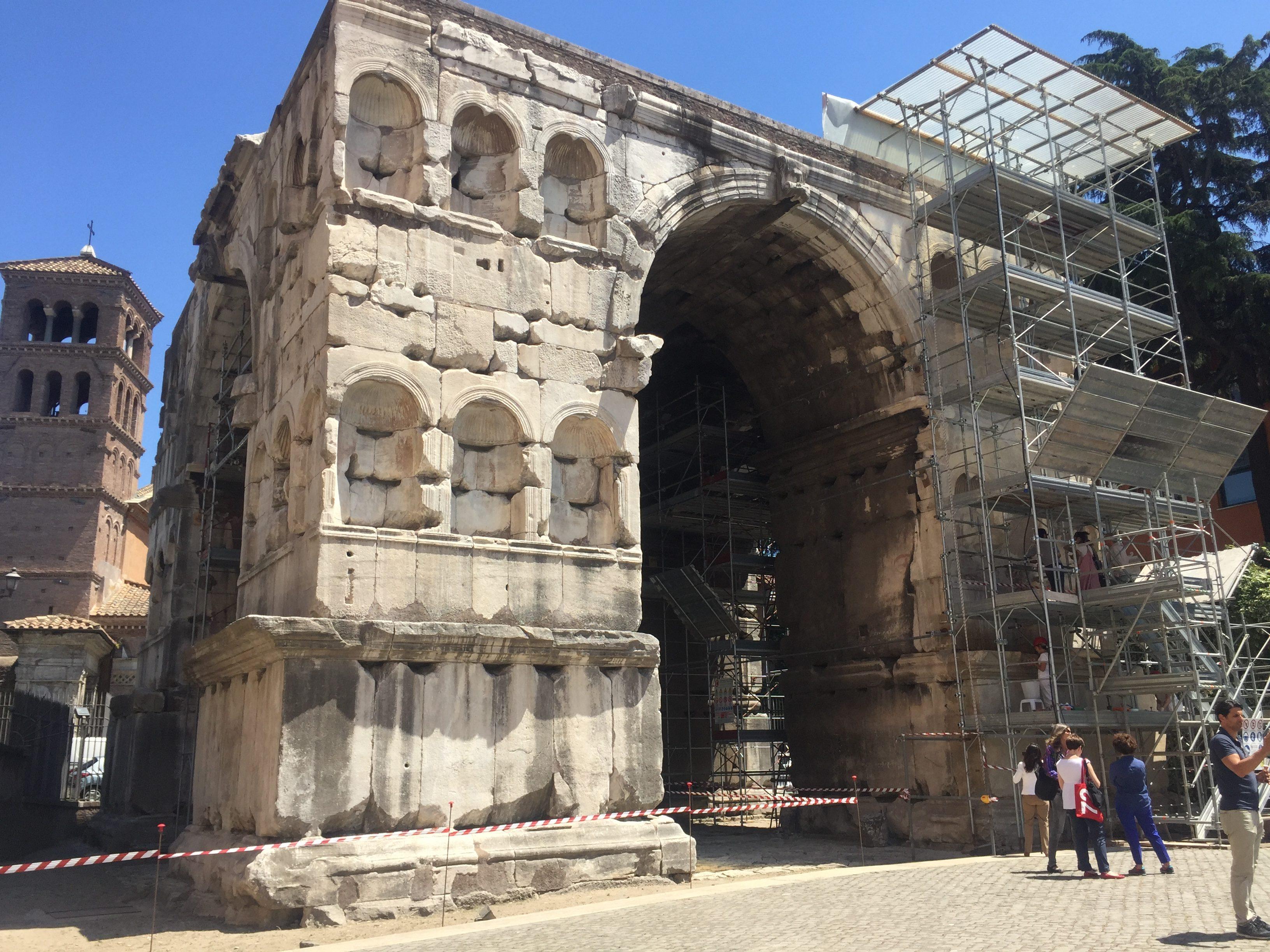 roma, arco di giano