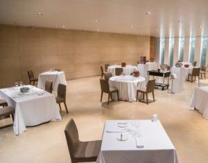 Spazio7, elegante e sobrio ristorante della fondazione torinese Sandretto Re Rebaudengo, punto di riferimento per l'arte contemporanea