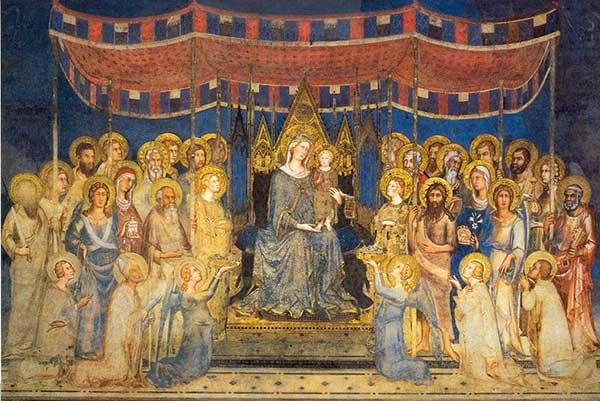 Maestà di Simone Martini, a Siena