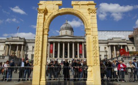 Arco di Palmira in 3D ad Arona