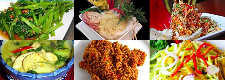 Piatti della cucina della Cambogia