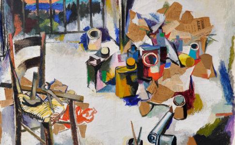 """Renato Guttuso """"Nello studio"""" (1958), in mostra presso la Fondazione Matteucci"""