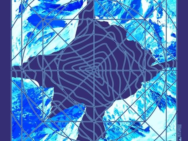 "Monte Bianco variante Blu in mostra a ""Foulard delle montagne"""