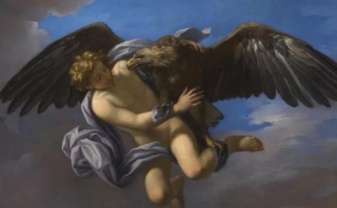 """Ad """"Amori Divini"""" l'opera di Anton Domenico Gabbiani, Ratto di Ganimede, Firenze, Gallerie degli Uffizi, Olio su tela,1700"""