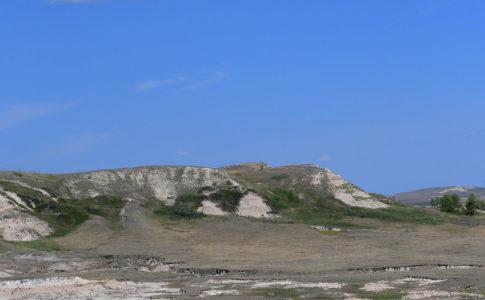 Il sito di scavo vicino a Dickinson, Dakota del Nord