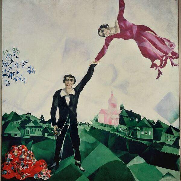 Marc Chagall, La passeggiata, 1917‐1918. Olio su tela, 169x163 cm. State Russian Museum, San Pietroburgo