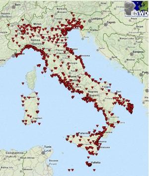 Tornado in Italia tra il 1950 e il 2015