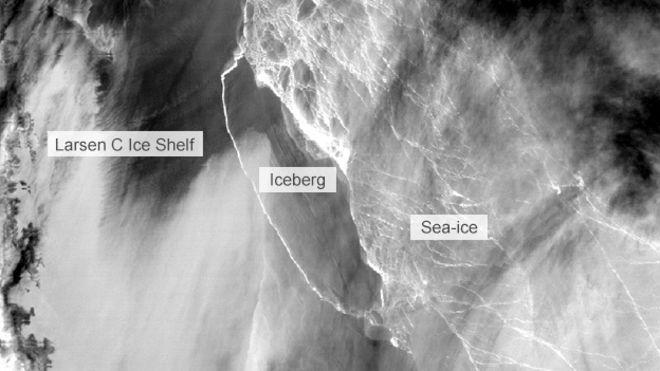 Iceberg distaccato dalla Larsen C