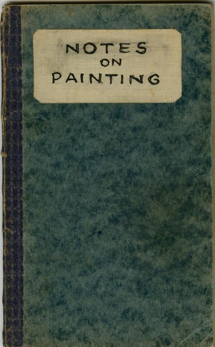 Edward Hopper?s ?Notes on Painting? notebook (cover), c. 1940-1950, The Sanborn Hopper Archive at the Whitney Museum of American Art, Frances Mulhall Achilles Library, Gift of The Arthayer R. Sanborn Hopper Collection Trust, Series: Personal Papers, Edward Hopper, Notebooks