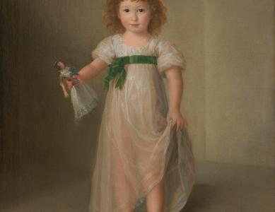 Manuela Isidra Téllez-Girón, futura duquesa de Abrantes Agustín Esteve [1753–post. 1820] Óleo sobre lienzo, 110,5 x 86 cm 1797 (Acquisito grazie alla donazione Óscar Alzaga Villaamil)