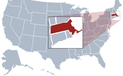 Mappa Massachusetts