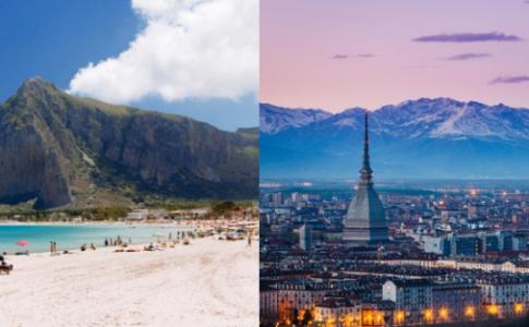 San Vito Lo Capo e Milano, preferite dai viaggiatori online