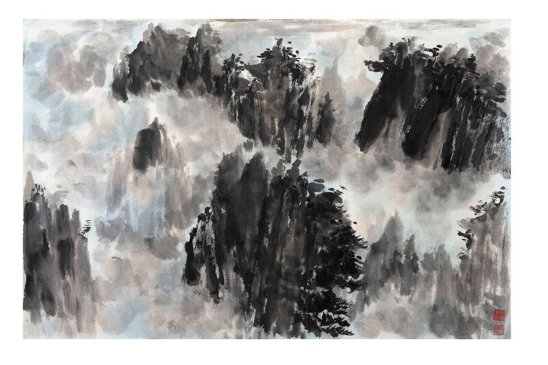RINASCITA_39_inchiostro_su_carta_fatta_a_mano_69x45.5cm (Mao Jianhua)