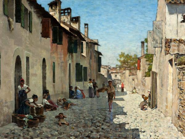 Telemaco Signorini, Via di Ravenna, olio su tela 33,5 x 51,5 cm (in mostra a Macchiaioli)