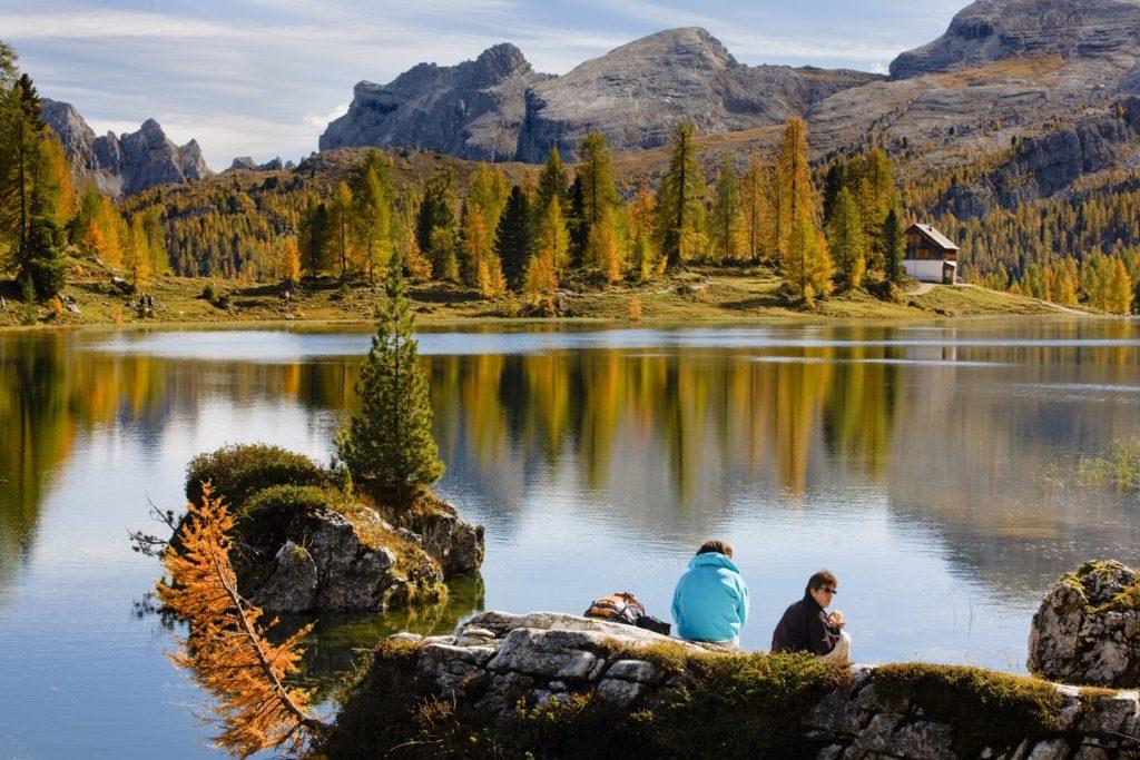 Paesaggio di autunno a Cortina