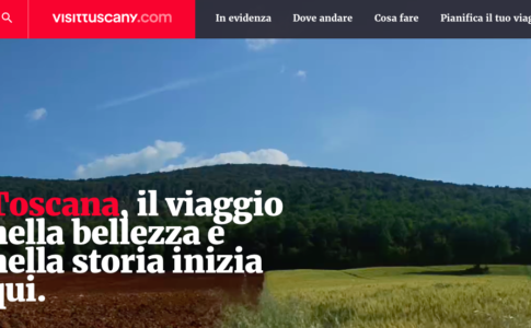 Screenshot visittuscany.com