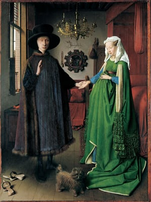 "Jan van Eyck, The Arnolfini Portrait, 1434 (in mostra a ""Reflections"")"