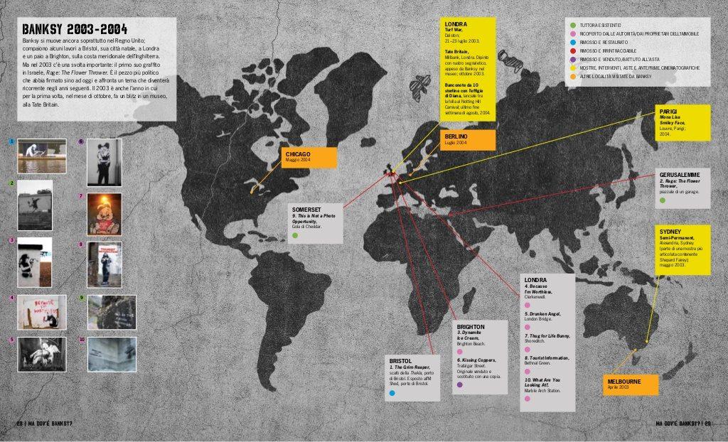 Ma dov'è Banksy pagina mappa