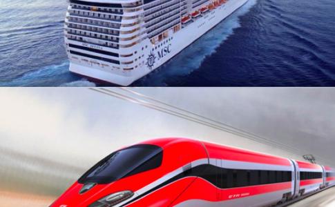Nave di MSC Crociere + treno di Trenitalia,