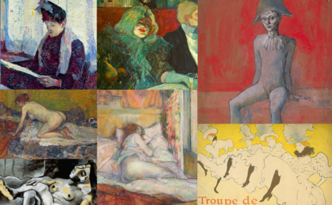 Collage di opere in mostra a Picasso/Lautrec