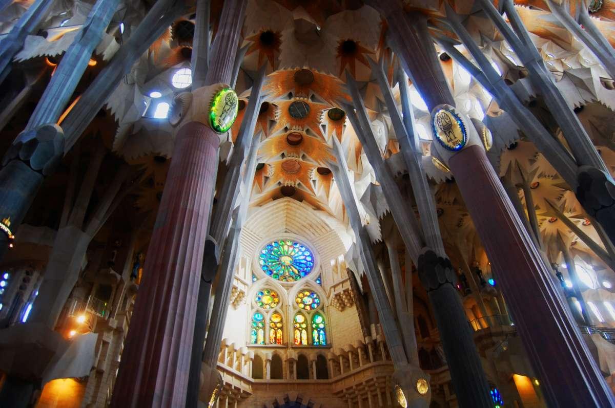 Interno Sagrada Familia, Barcellona