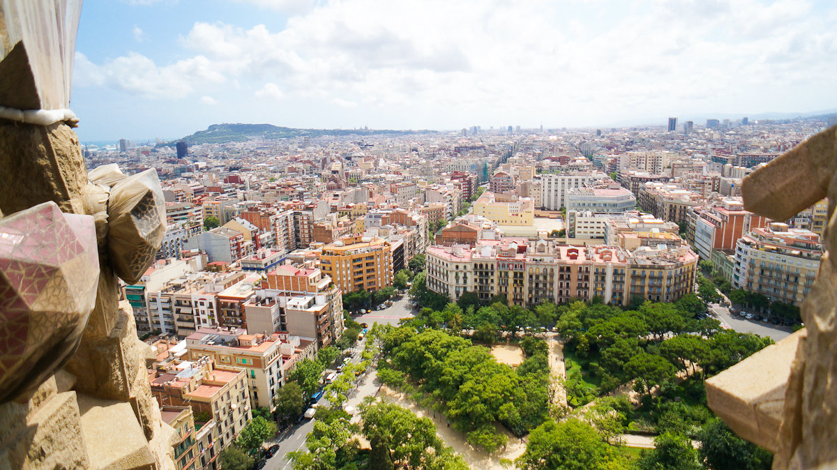 Vista Sagrada Familia, Barcellona