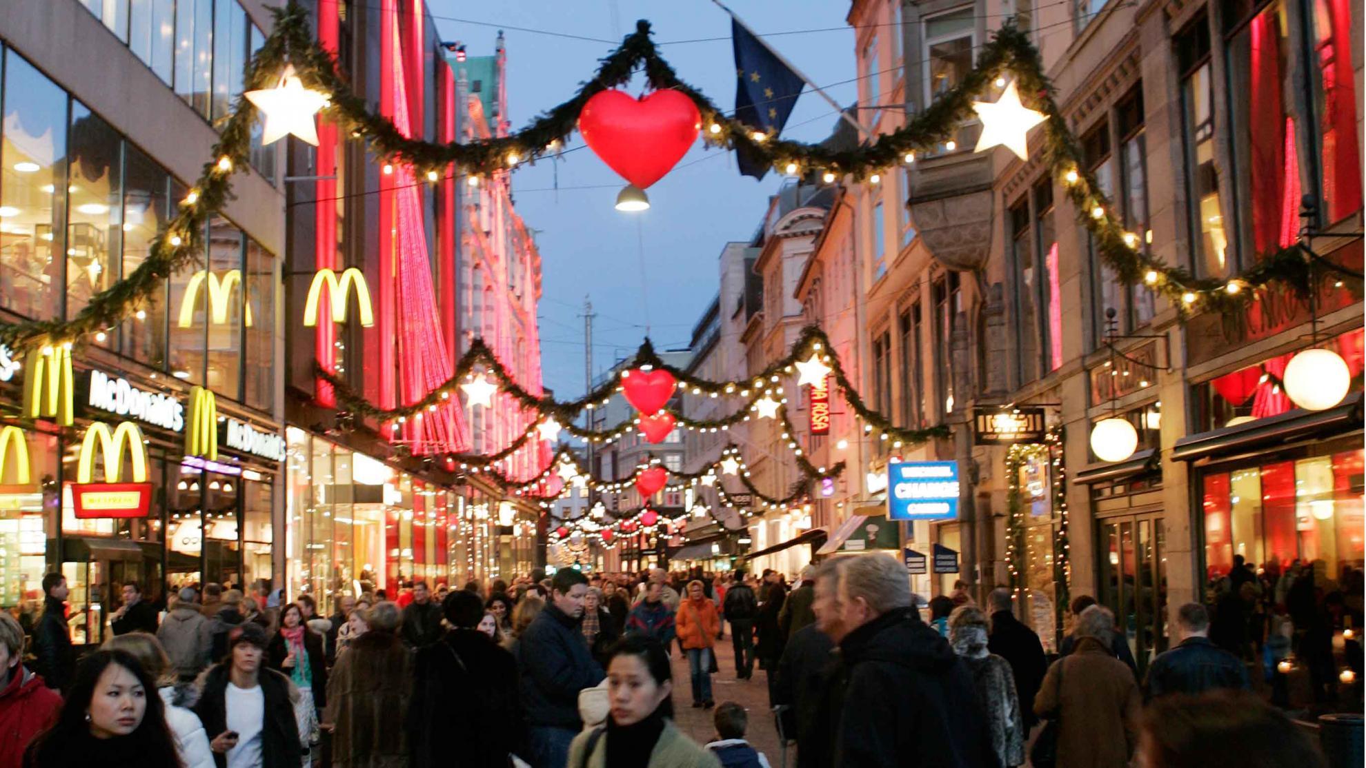 Royal COPENHAGEN PIATTO DI NATALE 2018 Albero di Natale del mercato