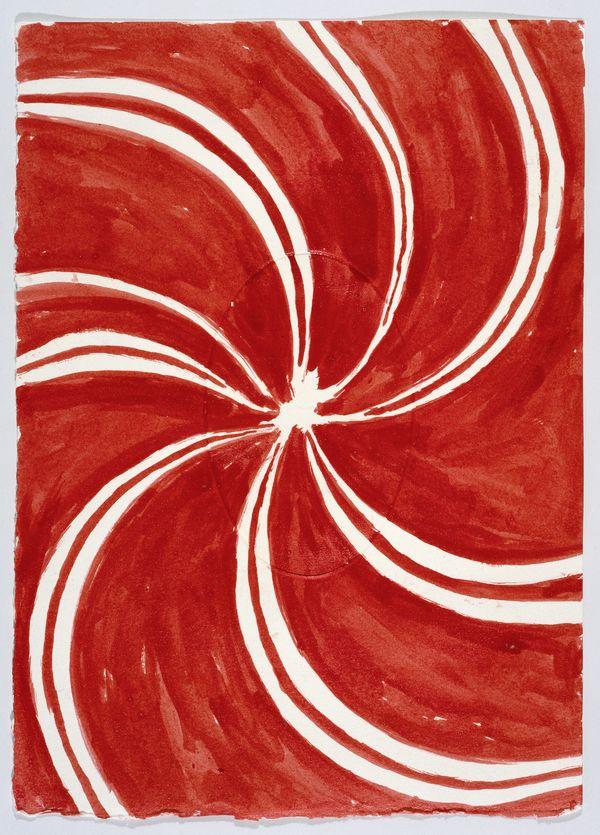 LOUISE BOURGEOIS, THE HOURS OF THE DAY, 2006 Aquarelle et crayon sur papier gaufré, suite de 24, 26 x 18,4 cm