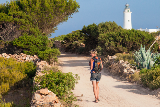Percorsi verdi a Formentera, nelle Baleari