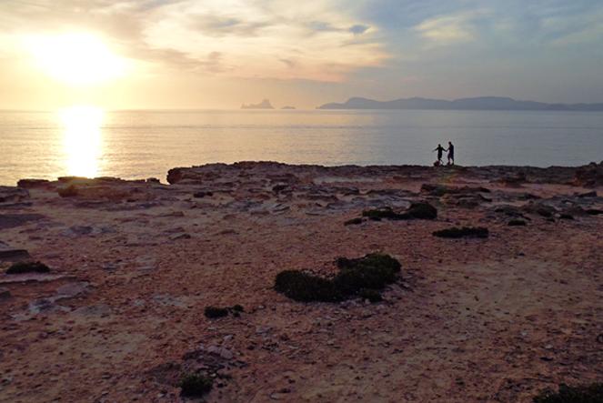Spiaggia da scoprire grazie ai percorsi verdi a Formentera, nelle Baleari