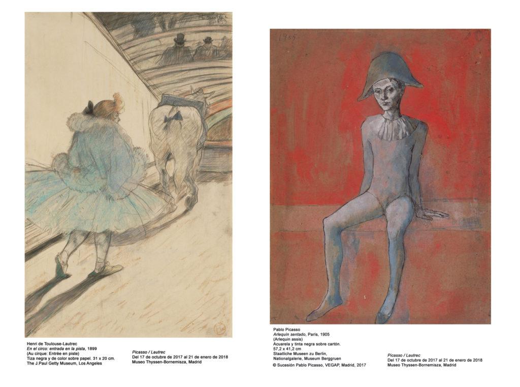 Opere di Lautrec e Picasso in mostra a Madrid
