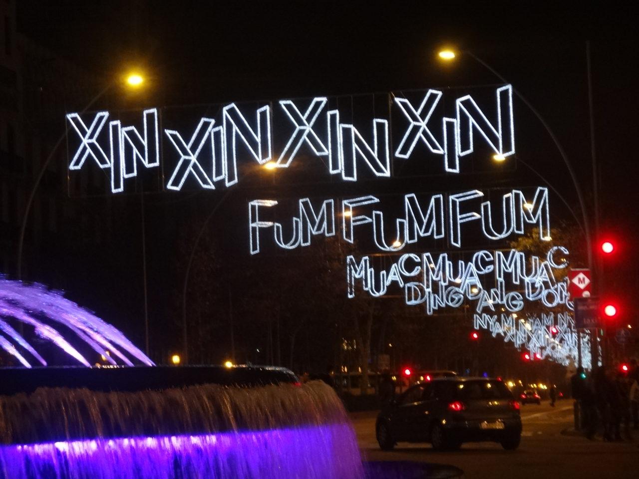 Luci di Natale Gran Via di Barcellona