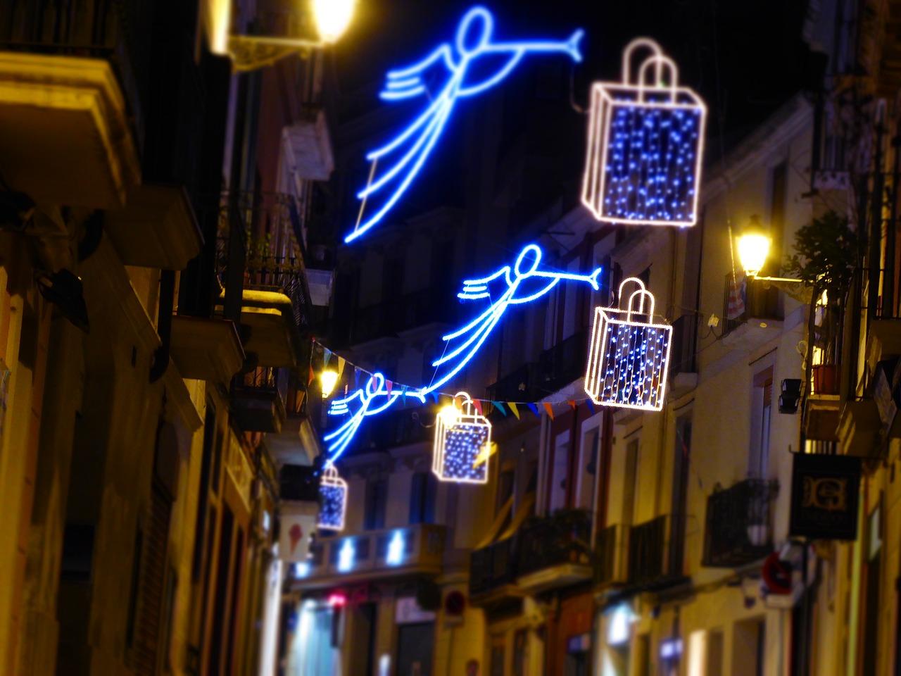 Luci di Natale a Barcellona