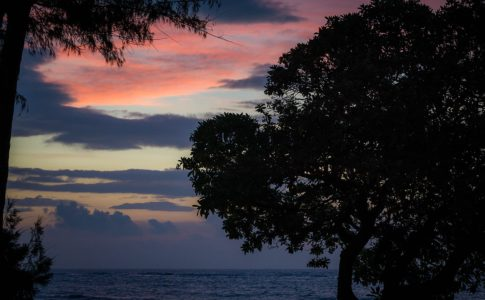 Kapaa all'alba, Kauai (Hawai)