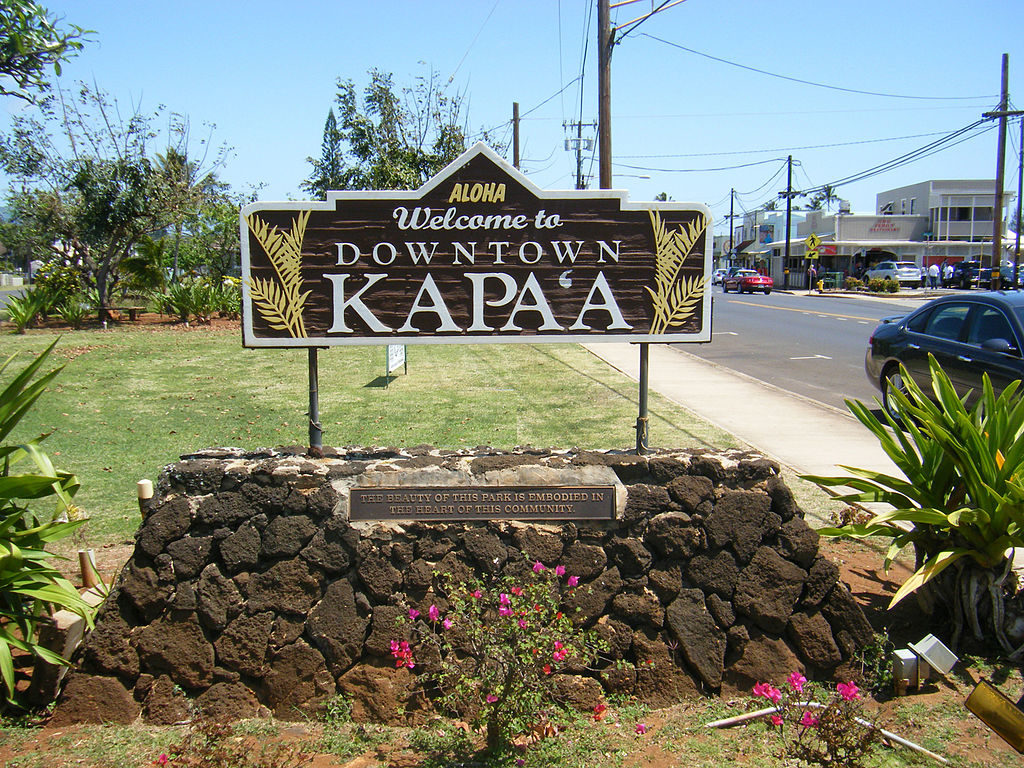 Entrata a Kapaa, Kauai (Hawaii)