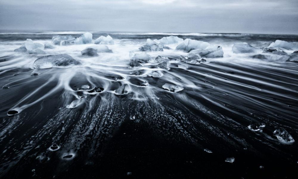 Ghiacciai in inverno in Islanda