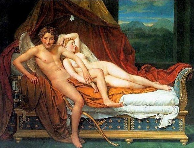 """""""Amore e Psiche"""" Jacques_louis_david_026_cupido_e_psiche_1817y"""