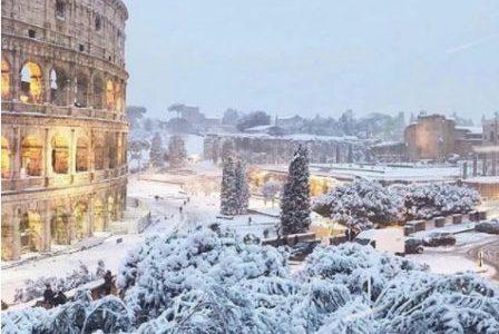 Neve a Roma, riaperti tutti i musei