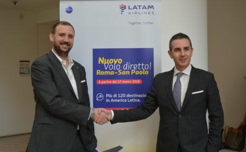 Latam Airlines e Aeroporti di Roma inaugurano il nuovo volo Roma San Paolo