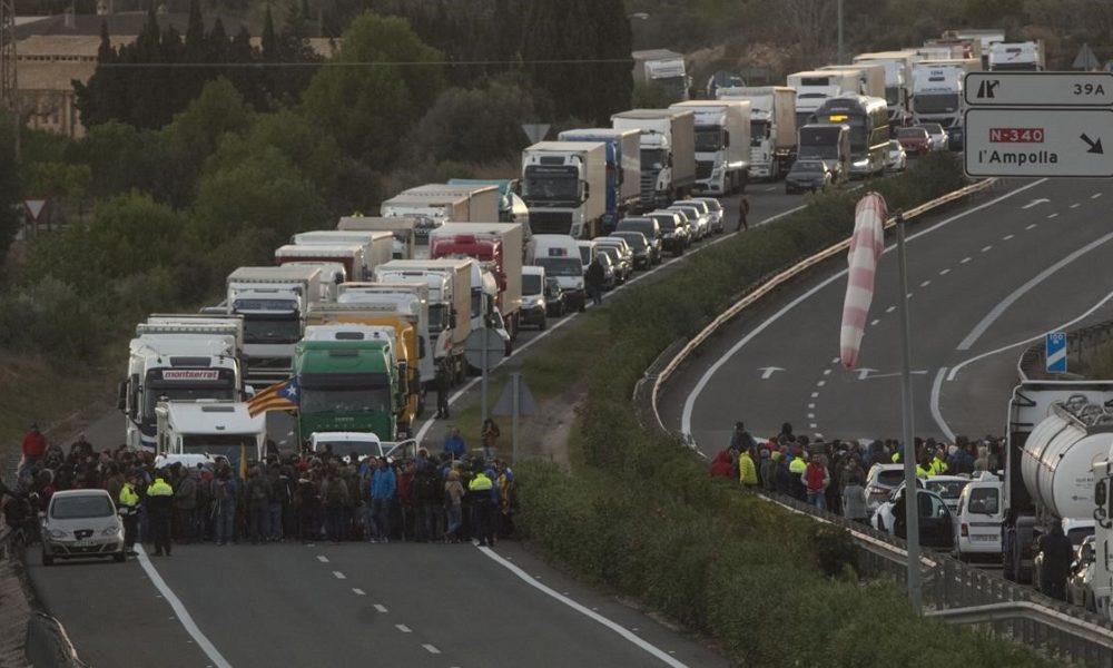 Manifestazioni nell'Ap7 per i prigioneri politici (Catalogna)