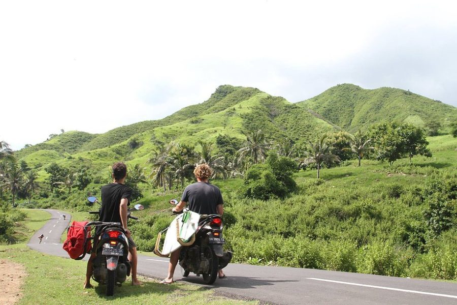 Lombok in motorino