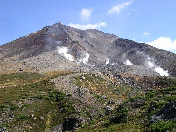 Monte Asahidake, nel Parco Nazionale di Daitsetsuzan, Hokkaido