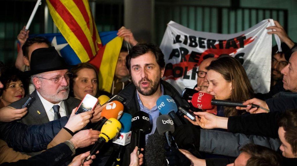 Ex-consellers Comin, Serret, Puig