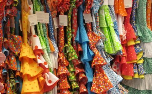 Vestiti colorati in Andalusia