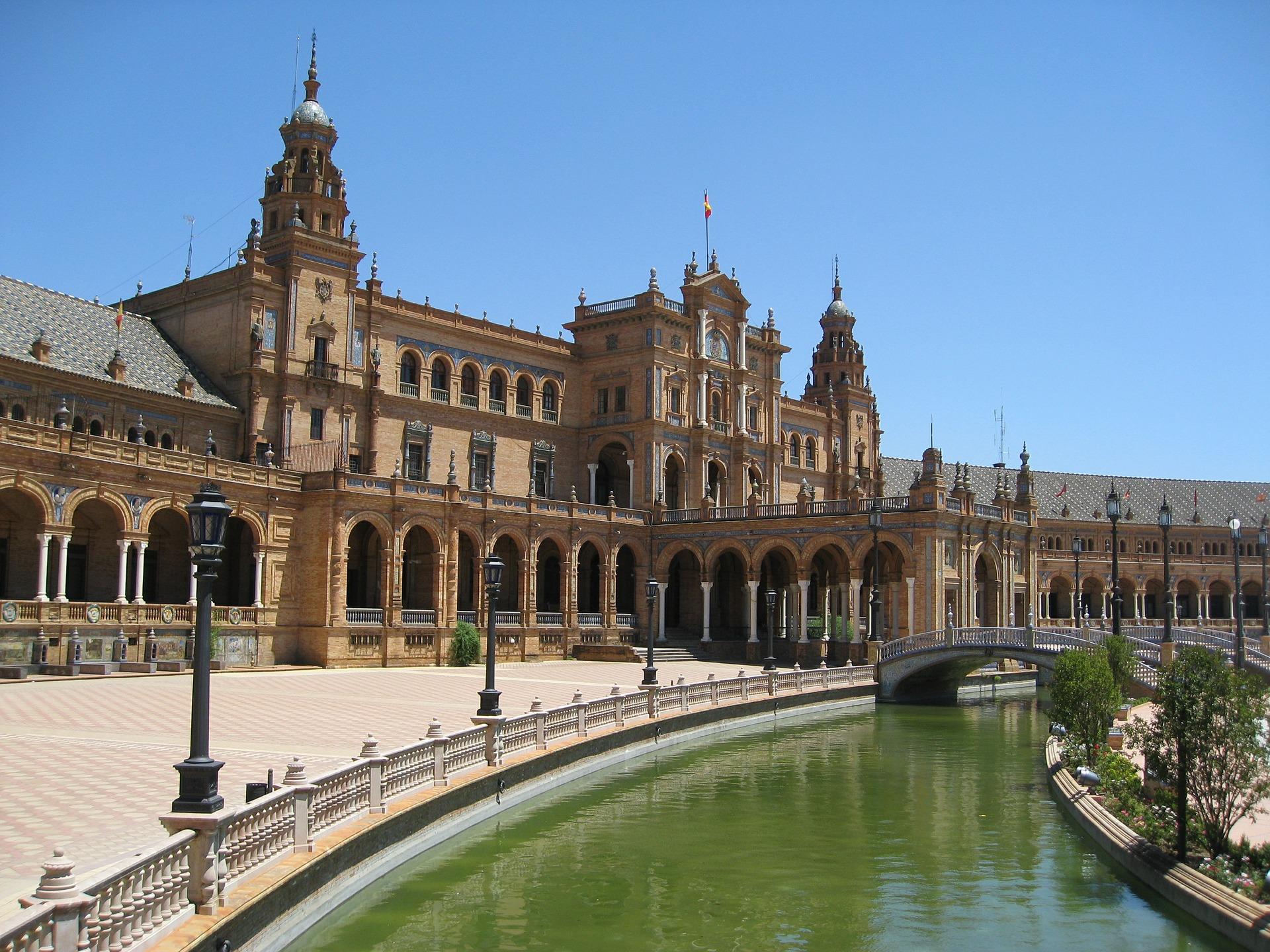 Piazza Spagna e Giralda, Siviglia, Andalusia