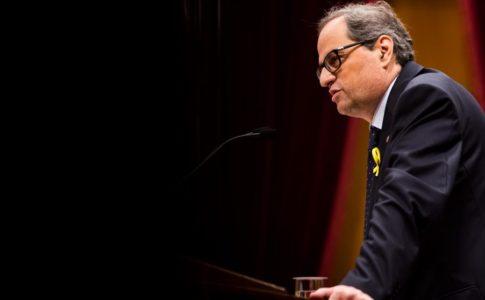 Torra al Parlamento Catalano oggi