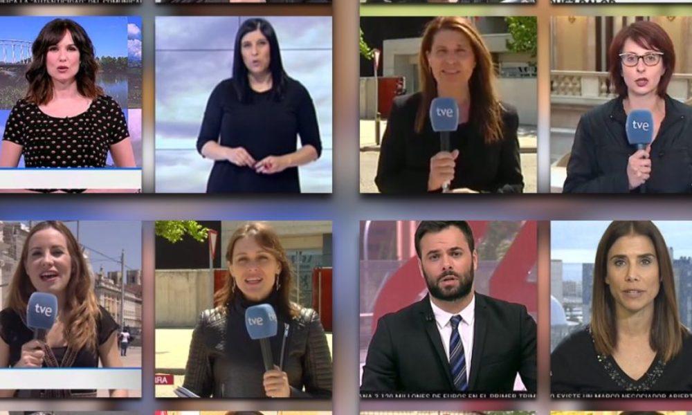 Giornalisti di RTVE durante il venerdì nero