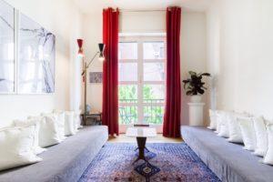 Roma, trastevere, casa di design